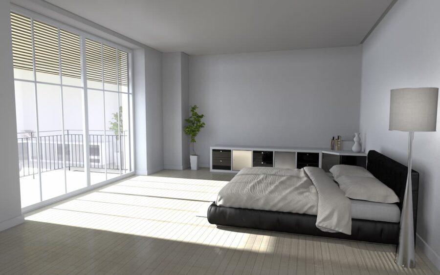 Schlafzimmer mit schlichter Einrichtung © epiCAD, stock.adobe.com